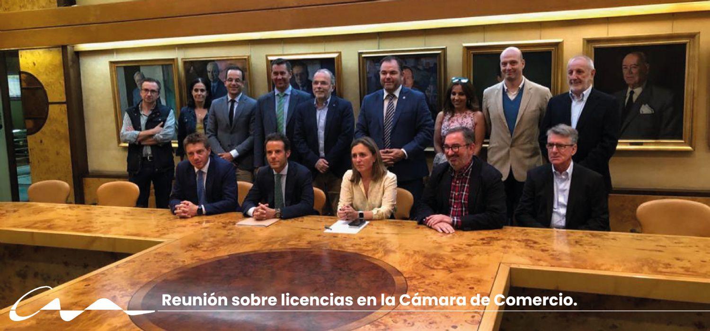 Reunión sobre la gestión de licencias del Ayuntamiento de Oviedo