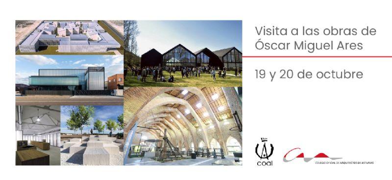 Visita a las obras del arquitecto Óscar Miguel Ares junto al COAL