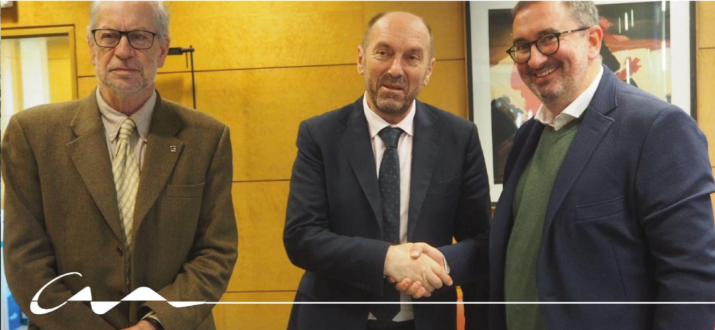 Reunión de Alfonso Torre con el consejero de Infraestructuras
