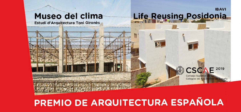 El Museo del Clima y las catorce VPO de Life Reusing Posidonia Premios de Arquitectura Española 2019