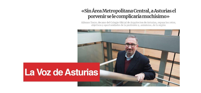 Entrevista de La Voz de Asturias al decano del COAA