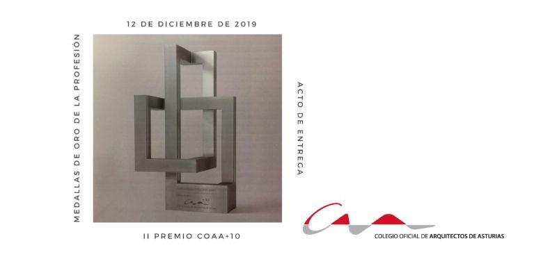 Entrega del II Premio COAA+10