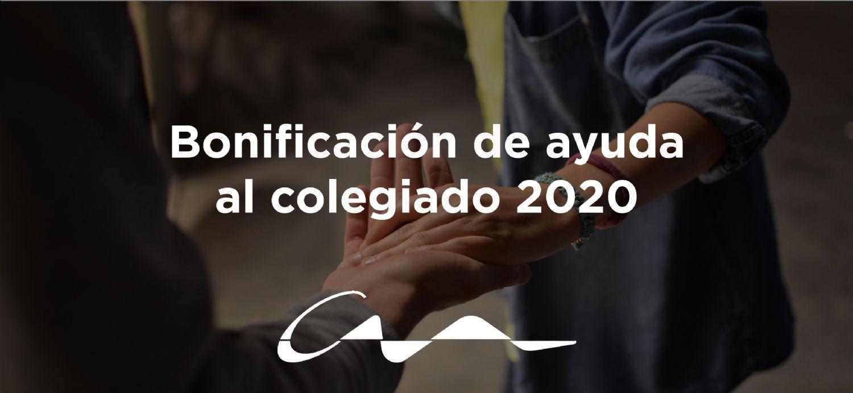 Bonificación de ayuda al colegiado 2020