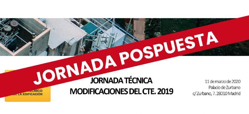 Jornada Técnica del CSCAE y Fomento sobre las Modificaciones CTE R.D. 732/2019