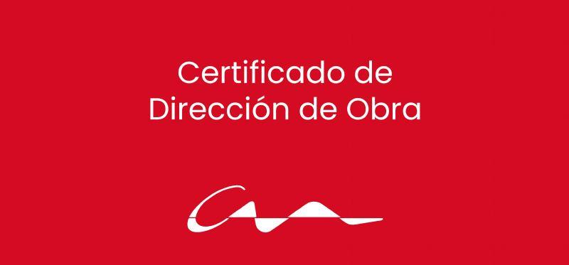 Solicita aquí el certificado de dirección de obra