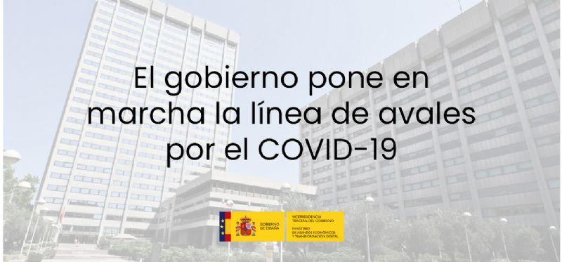 El gobierno pone en marcha la línea de avales por el COVID-19