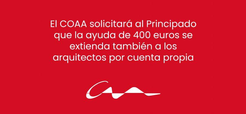El COAA solicitará al Principado que la ayuda de 400 euros se extienda también a los arquitectos por cuenta propia
