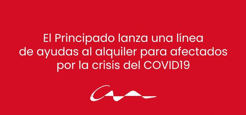El Principado lanza una línea de ayudas al alquiler para afectados por la crisis del COVID19