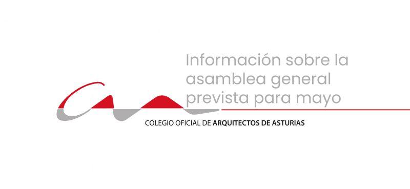 Información sobre la asamblea general prevista para mayo