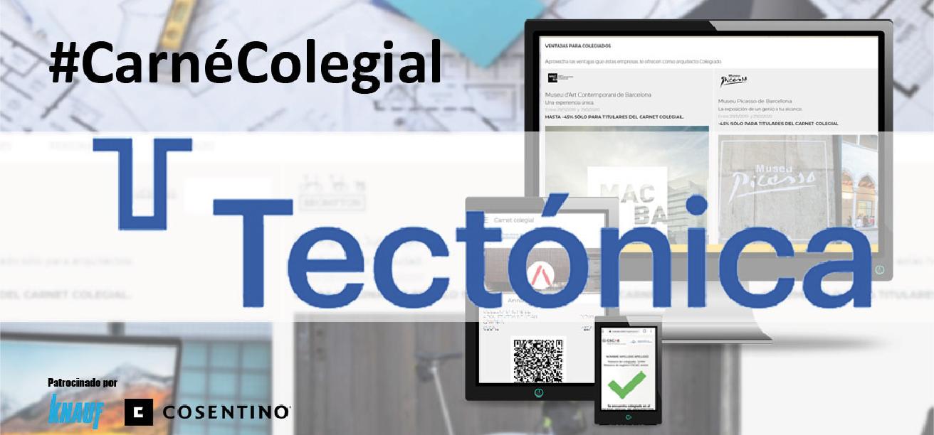 Tectónica se incorpora al carné colegial a través de un convenio con el CSCAE