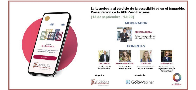 Encuentro digital ´La tecnología al servicio de la accesibilidad en el inmueble´