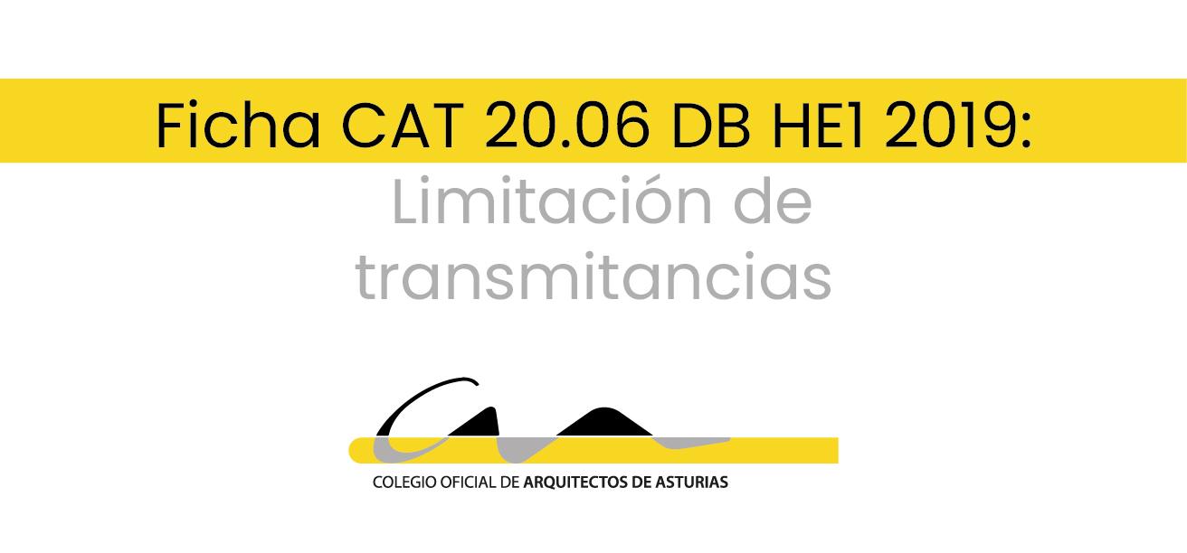 F20.06 DB HE1 2019: LIMITACIÓN DE TRANSMITANCIAS