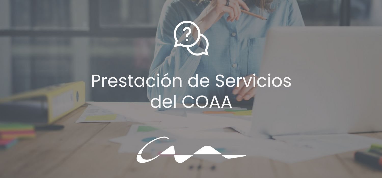 Prestación telemática o con cita previa en los servicios del COAA
