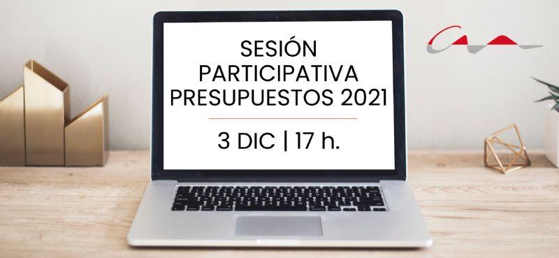 Sesión participativa sobre el presupuesto 2020