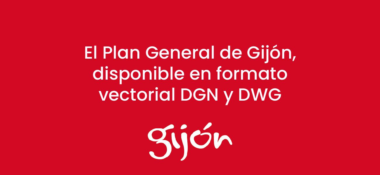 El Plan General de Gijón, disponible en formato vectorial DGN y DWG