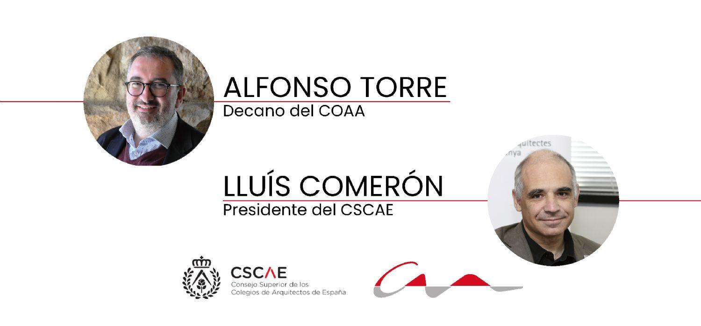 Carta del decano, Alfonso Torre, y del presidente del CSCAE, Lluís Comeron