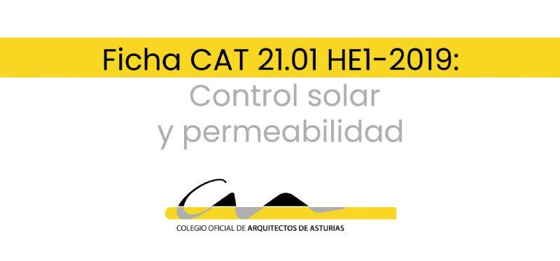 F.21.01 HE1-2019: Control solar y permeabilidad
