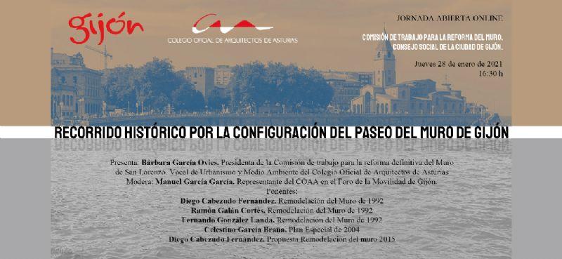 Jornada abierta: ´Recorrido histórico por la configuración del Paseo del Muro de Gijón´