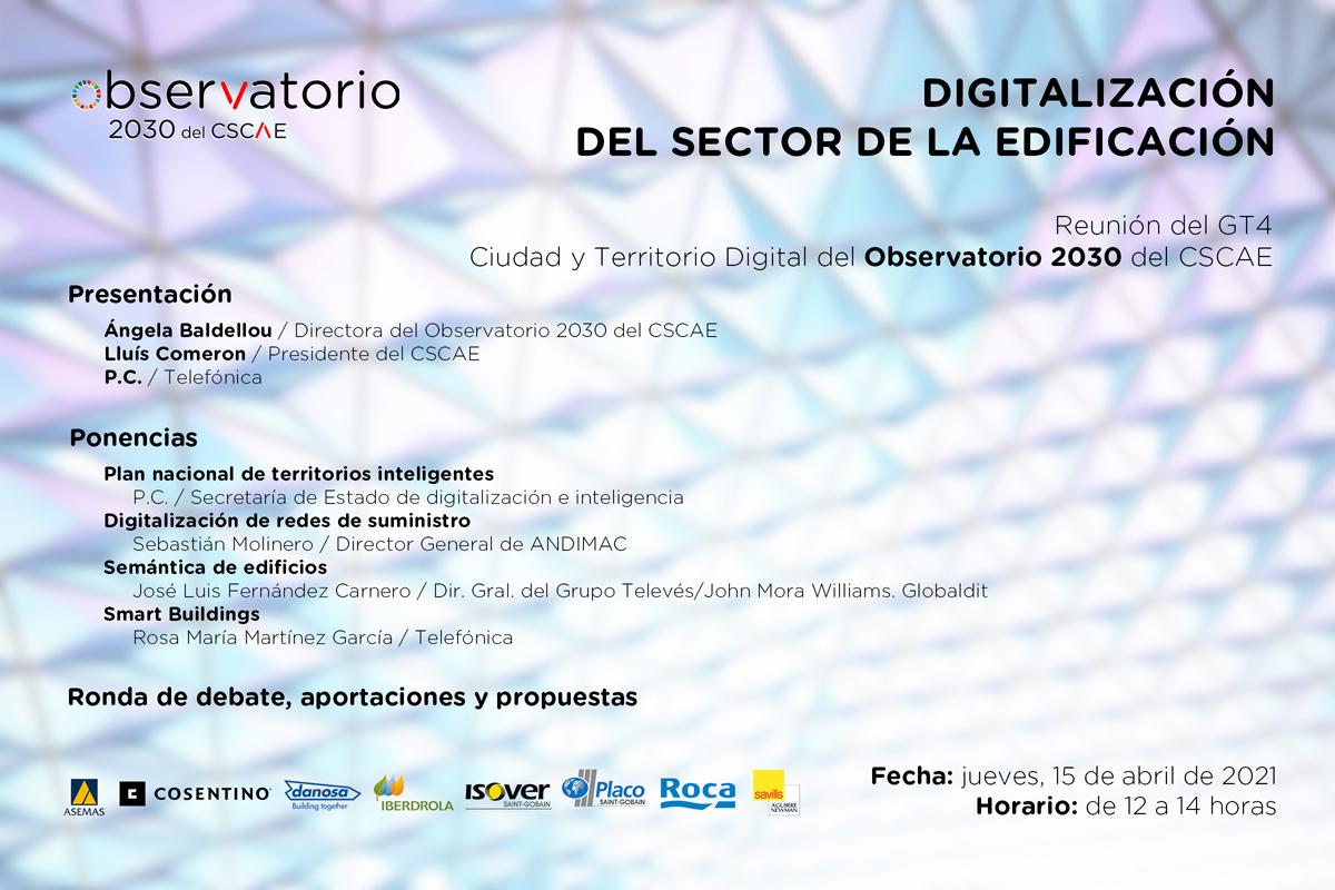 Jornada de cierre del GT4 Ciudad y Territorio Digital del CSCAE