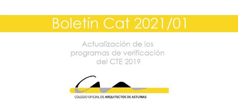 Boletín CAT 2021/01: Actualización de los programas de verificación del CTE 2019