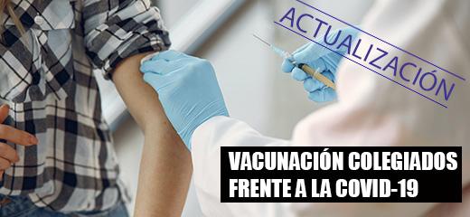 Vacunación de colegiados sin alta en el sistema público de Salud