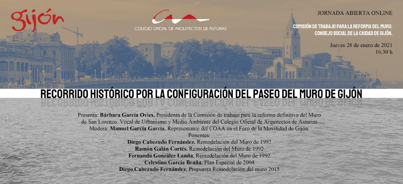 Jornada abierta: `Recorrido histórico por la configuración del Paseo del Muro de Gijón`