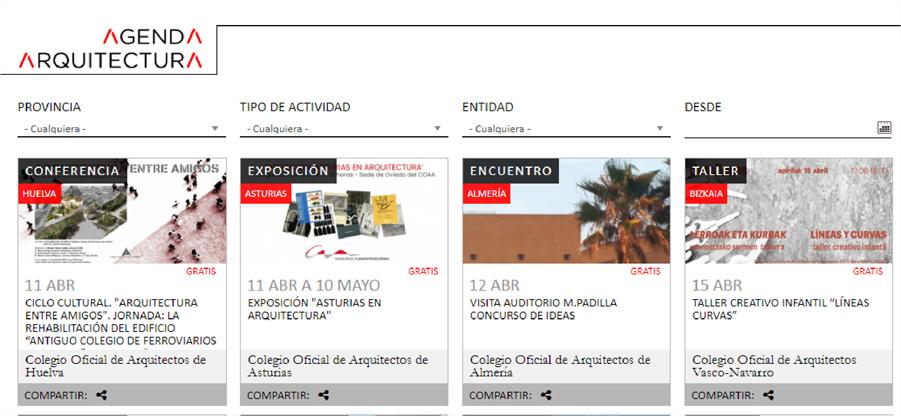 Una web englobará las actividades relacionadas con la Arquitectura en España