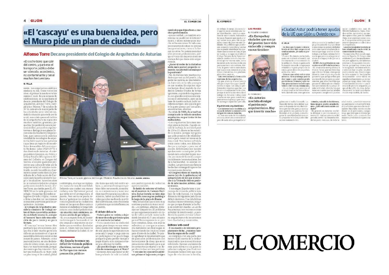 Entrevista a Alfonso Torre, decano de COAAsturias, en El Comercio