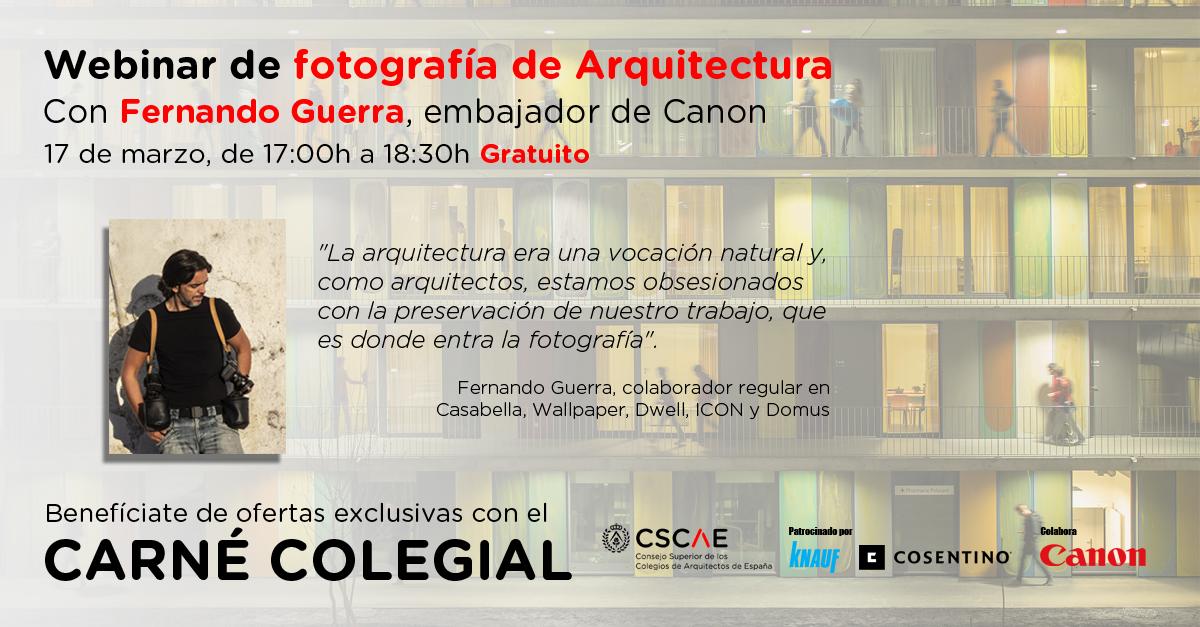 Webinar Canon: Fotografía de arquitectura con Fernando Guerra.