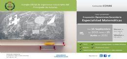 Curso de formación en Matemáticas para oposiciones