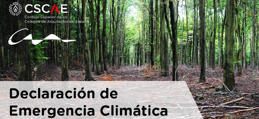 Los arquitectos declaran la emergencia climática y trabajarán para que España sea una economía de bajo impacto ambiental en 2050
