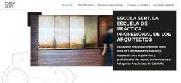 Nuevo portal web de la escuela de práctica profesional Josep Lluís Sert