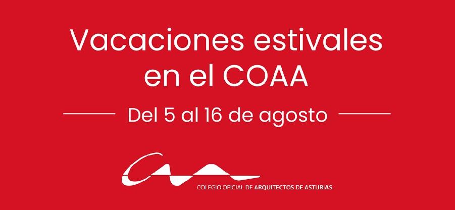 Vacaciones de verano en el COAA