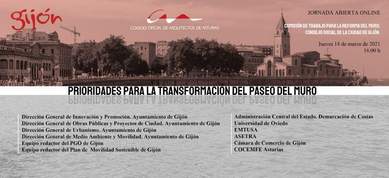 Jornada abierta: `Prioridades para la transformación del Paseo del Muro`