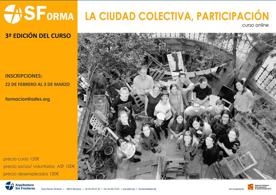 3ª Edición Curso Online ´La ciudad colectiva, participación´
