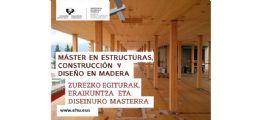 Abierto el plazo de preinscripción para el Máster en Estructuras, Construcción y Diseño en madera de la UPV