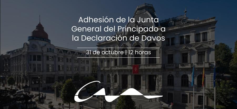 Adhesión de la Junta General del Principado a la Declaración de Davos