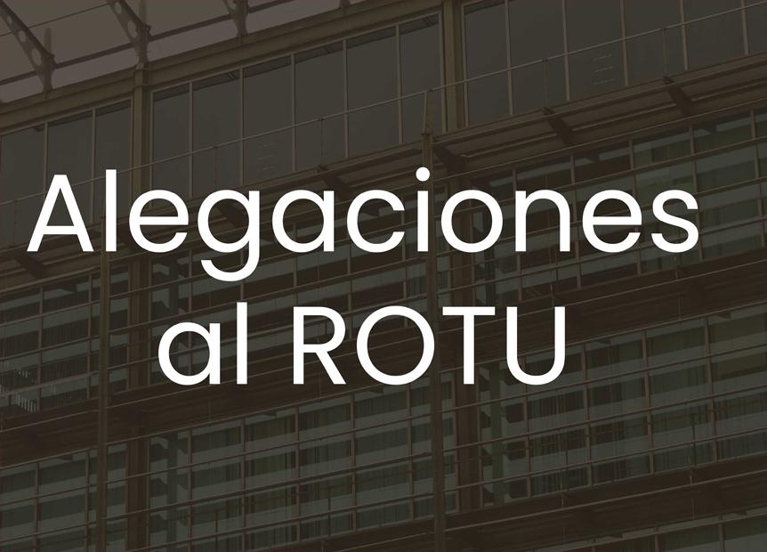 Alegaciones del COAA a la propuesta de Decreto del ROTU