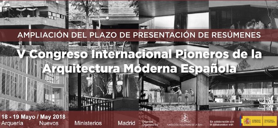 Ampliado el plazo de recepción de resúmenes del V Congreso Pioneros de la Arquitectura