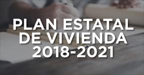 Aprobado el Plan de Vivienda Estatal 2018-2021