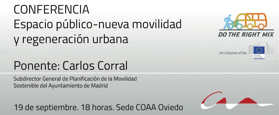 Carlos Corral hablará de la nueva movilidad y regeneración urbana en el COAA