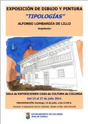 Cartel Exposición `Tipologías` (Alfonso Lombardía de Lillo)