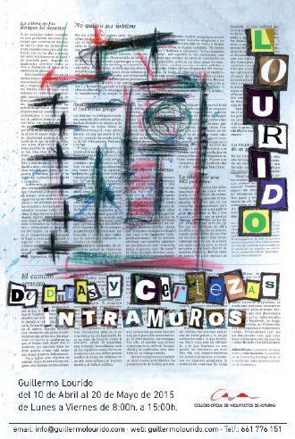 Cartel Exposición de Escultura y Pintura `De dudas y certezas (Intramuros)`
