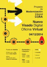 Cartel informativo (NUEVO VISADO DIGITAL / OFICINA VIRTUAL)