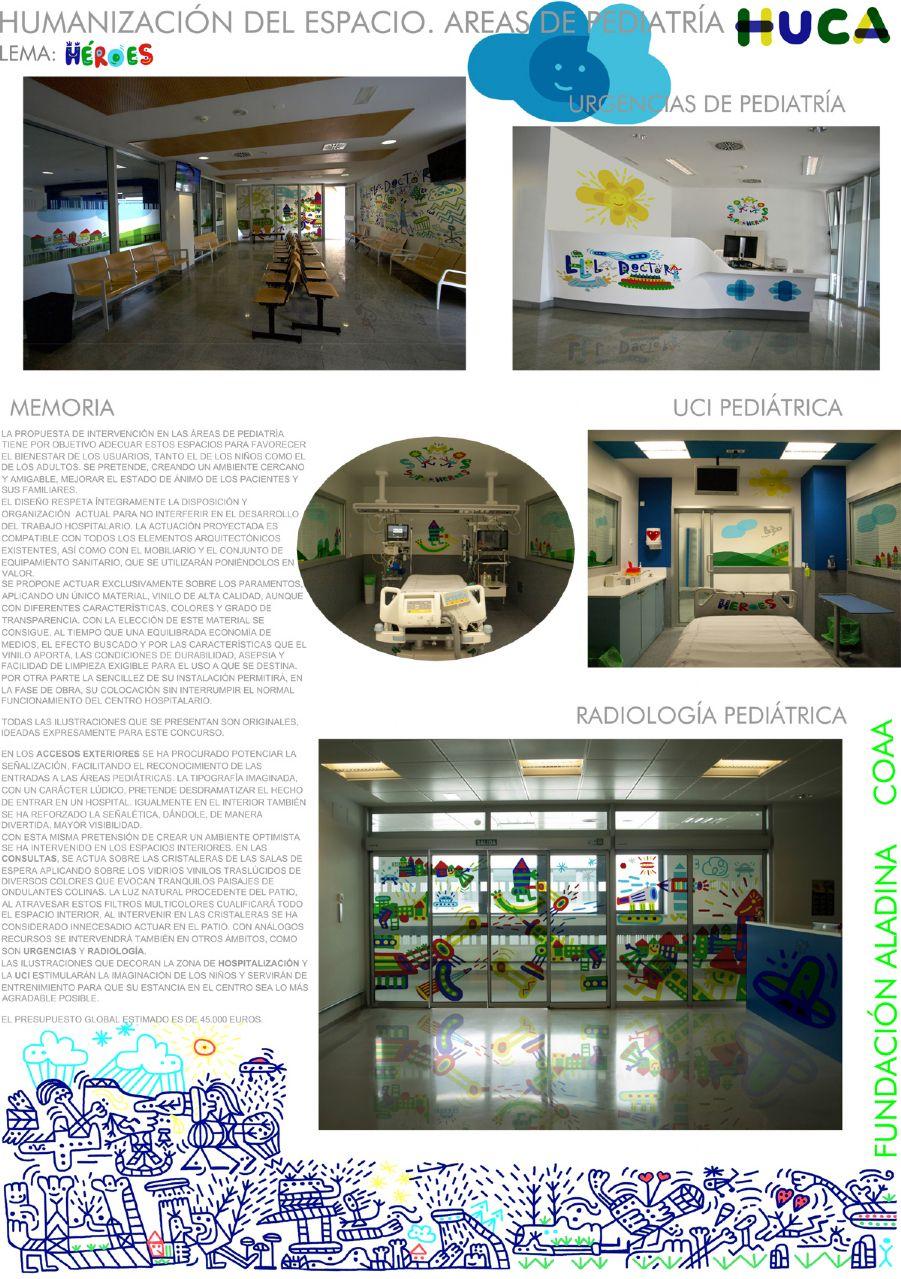 Concurso de Ideas para las áreas de pediatría del HUCA - Héroes (Panel 3)