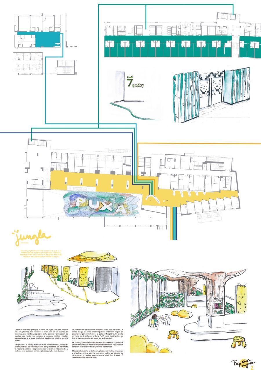 Concurso de Ideas para las áreas de pediatría del HUCA - Pequeños Viajeros (Panel 2)