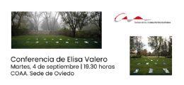 Conferencia de Elisa Valero en la sede de Oviedo del COAA