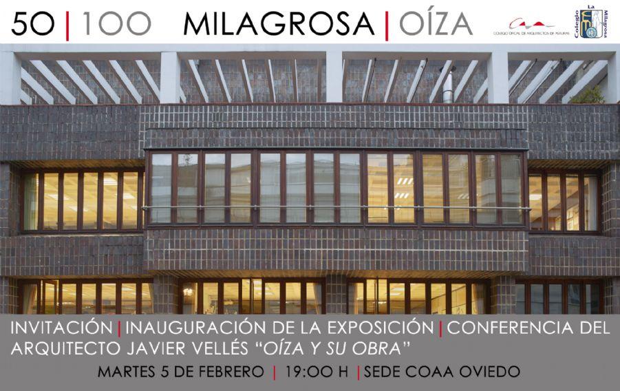 Conferencia de Javier Vellés Montoya sobre Oiza