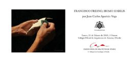 Conferencia de Juan Carlos Aparicio sobre la obra de Francisco Fresno