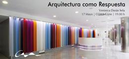Conferencia de la arquitecta Verónica Durán Sela en el COAA